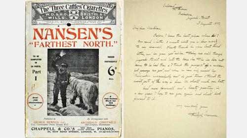 Fridtjof Nansen cover and manuscript
