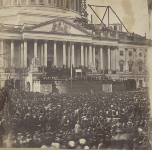 1861 Wood Photo- Lincoln Inauguration